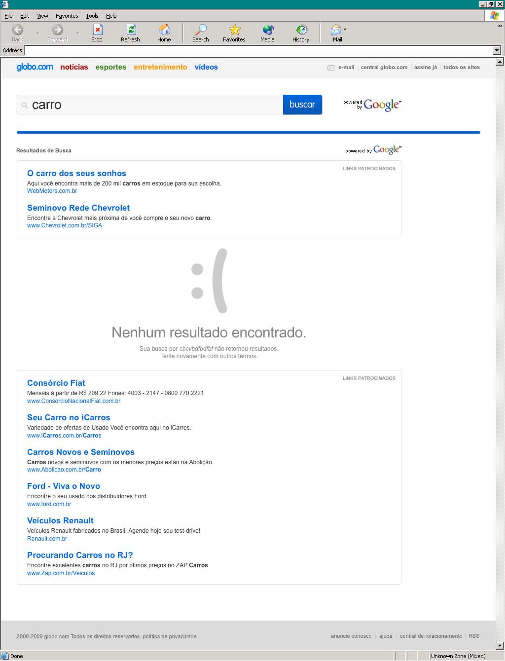 Globo.com's web search