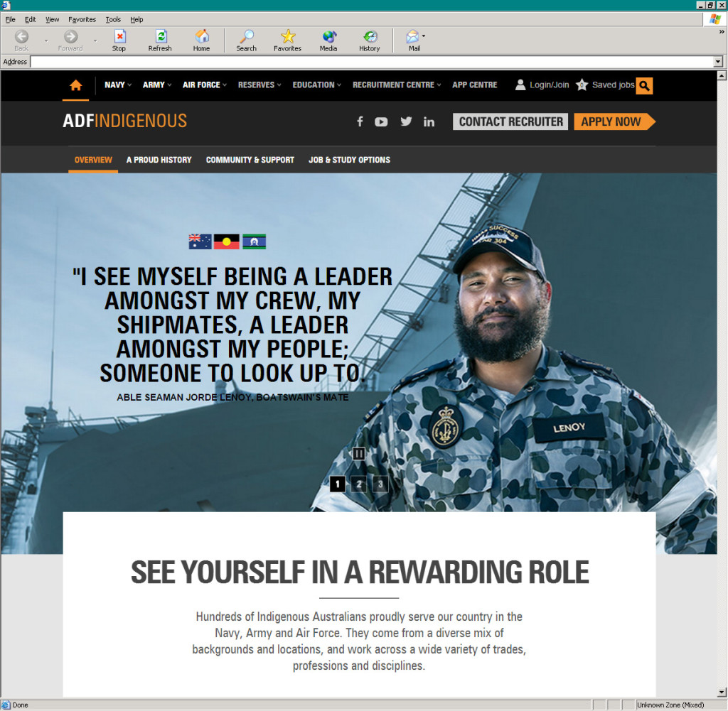 Defence Jobs' Indigenous campaign