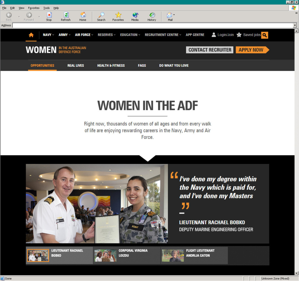 Defence Jobs' Women campaign