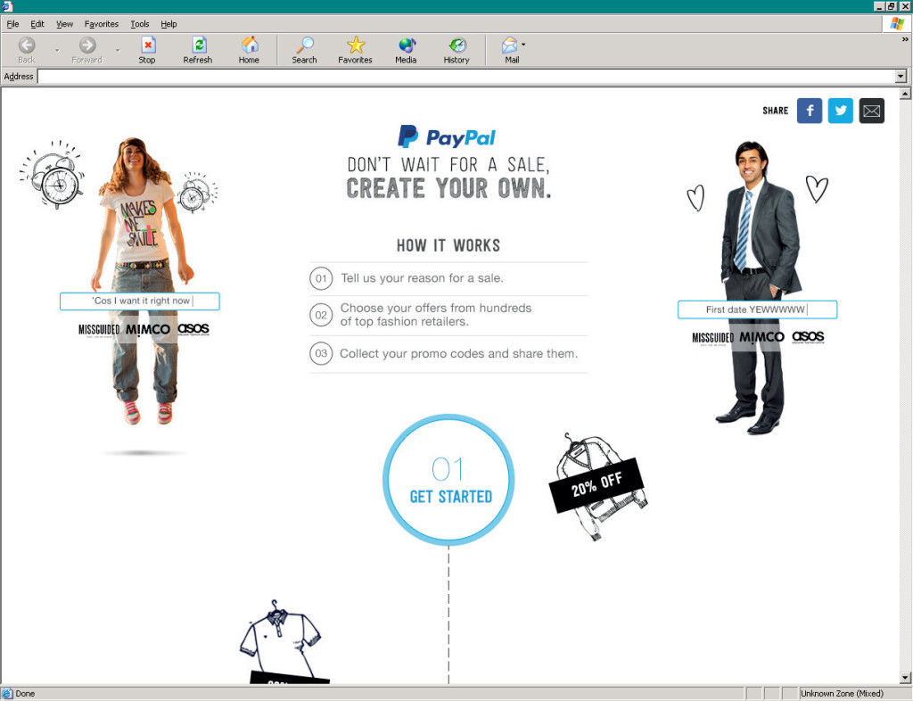 PayPal's Create Your Own Sale
