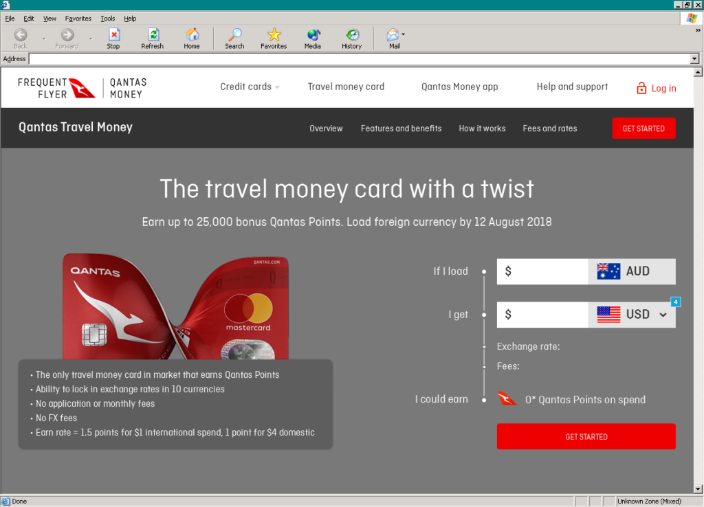 Qantas Travel Money's Public Website Redesign